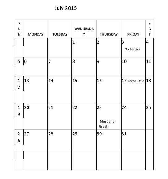 Calendar-July